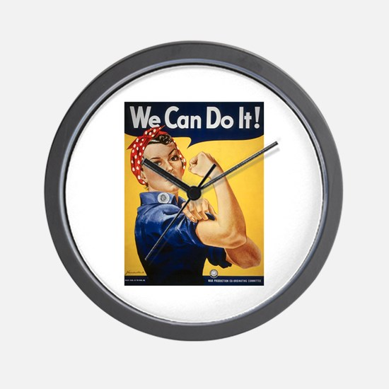 Rosie Riveter We Can Do It Wall Clock