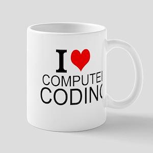 I Love Computer Coding Mugs