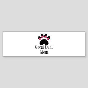 Great Dane Mom Paw Print Bumper Sticker