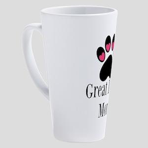 Great Dane Mom Paw Print 17 oz Latte Mug