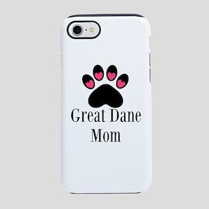 Great Dane Mom Paw Print iPhone 8/7 Tough Case