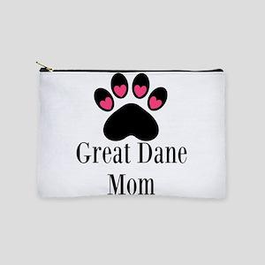 Great Dane Mom Paw Print Makeup Bag