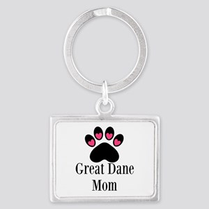 Great Dane Mom Paw Print Keychains