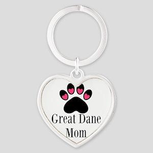 Great Dane Mom Paw Print Keychains
