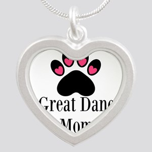 Great Dane Mom Paw Print Necklaces