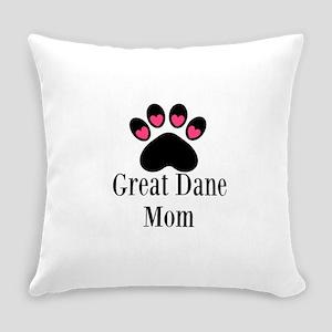 Great Dane Mom Paw Print Everyday Pillow
