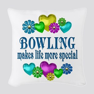 Bowling More Special Woven Throw Pillow