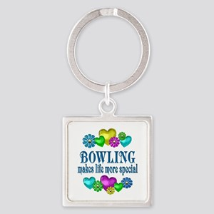 Bowling More Special Square Keychain