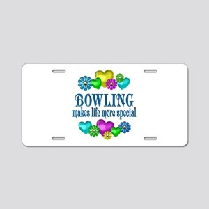 Bowling More Special Aluminum License Plate