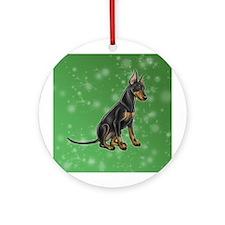 Standard Manchester Terrier Round Ornament