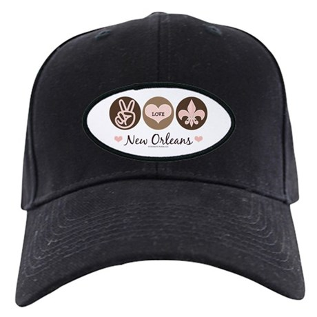 Peace Love New Orleans Black Cap