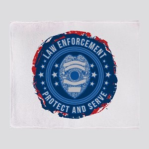 Law Enforcement Seal of Safety Throw Blanket