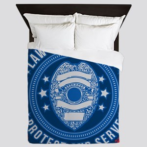 Law Enforcement Seal of Safety Queen Duvet