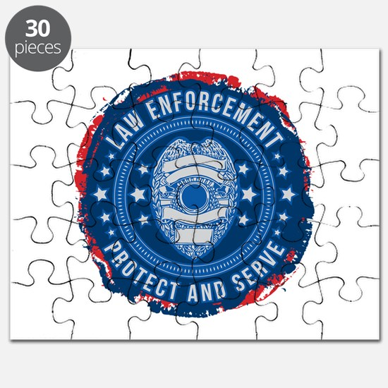 Law Enforcement Seal of Safety Puzzle