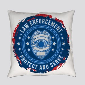 Law Enforcement Seal of Safety Everyday Pillow