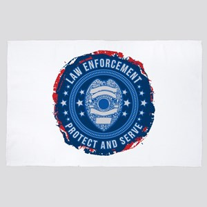 Law Enforcement Seal of Safety 4' x 6' Rug