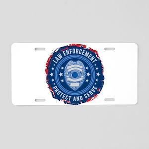Law Enforcement Seal of Saf Aluminum License Plate