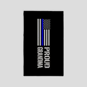 Police: Proud Grandma Area Rug