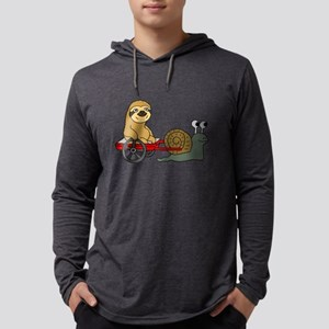 Snail Pulling Wagon with Sloth Long Sleeve T-Shirt