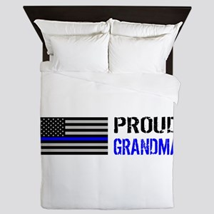 Police: Proud Grandma Queen Duvet