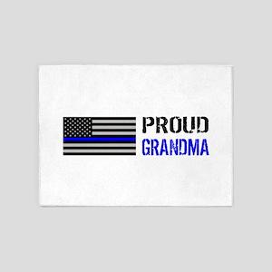 Police: Proud Grandma 5'x7'Area Rug