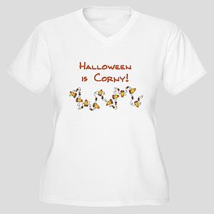 Halloween is Corny Women's Plus Size V-Neck T-Shir