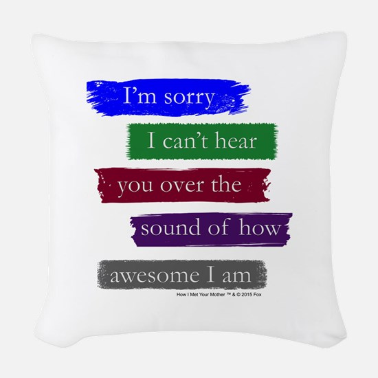 Awesome Woven Throw Pillow