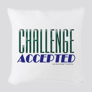 Challenge Accepted Woven Throw Pillow