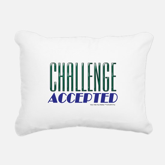 Challenge Accepted Rectangular Canvas Pillow