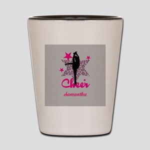 Pink Cheerleader Shot Glass