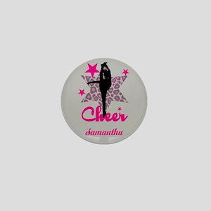 Pink Cheerleader Mini Button