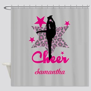 Pink Cheerleader Shower Curtain