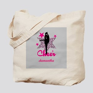 Pink Cheerleader Tote Bag