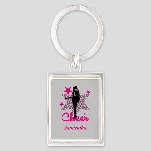 Pink Cheerleader Keychains
