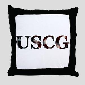USCG (Flag) Throw Pillow