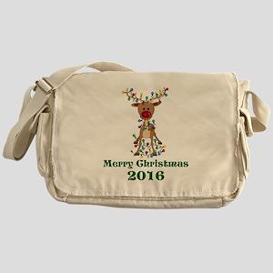 CUSTOM Adorable Reindeer Messenger Bag
