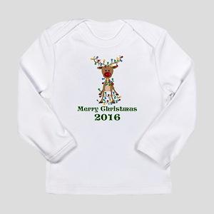 CUSTOM Adorable Reindeer Long Sleeve T-Shirt
