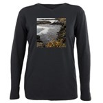 Seal Rock Coastal Scene Plus Size Long Sleeve Tee