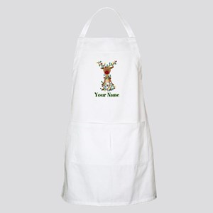 Adorable Reindeer CUSTOM Baby Name Apron