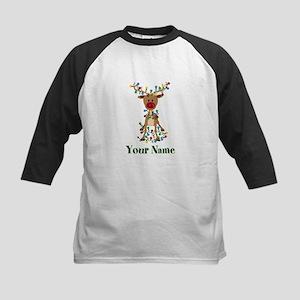 Adorable Reindeer CUSTOM Baby Name Baseball Jersey