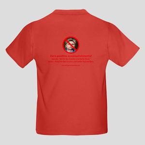 Nevada Flag, Motto and Hillary Kids Dark T-Shirt
