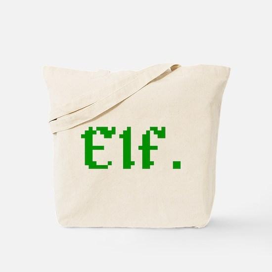 8-bit Elf Retro Gamer Vintage Pixel Art Tote Bag