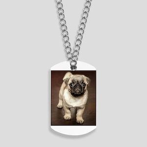 Curious Pug Puppy Dog Tags