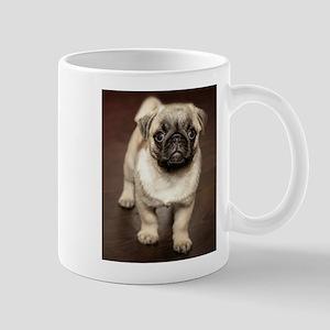 Curious Pug Puppy Mugs