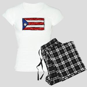 Puerto Rican Flag Women's Light Pajamas