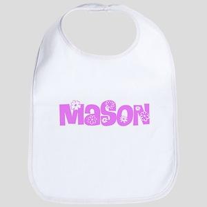 Mason Pink Flower Design Baby Bib