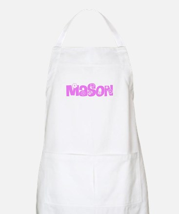 Mason Pink Flower Design Light Apron
