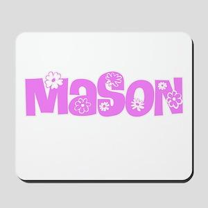Mason Pink Flower Design Mousepad