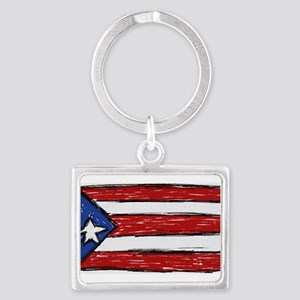 Puerto Rican Flag Keychains