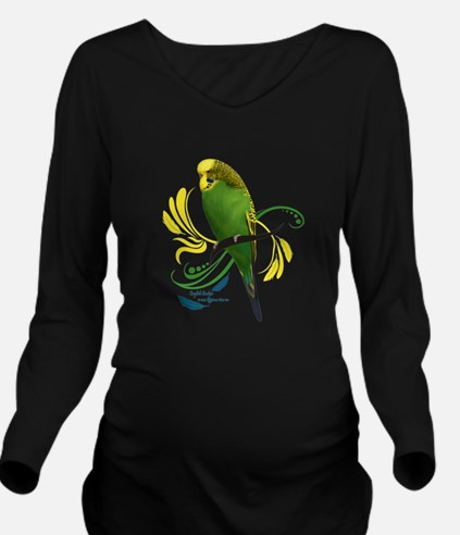 English Budgie Long Sleeve Maternity T-Shirt